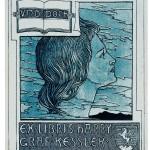 Joseph Kaspar Sattler Exlibris Harry Graf Kessler, ca. 1895 Originalgröße 90 x 70 mm *  Das Exlibris ist auch bekannt in der Größe 73 x 57 mm und 145 x 113 mm  Privatsammlung, Berlin