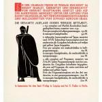 Prospekt für den Hamlet, Cranach Presse 1929 * 255 x 225 mm  Privatsammlung, Berlin