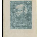 Harry Graf Kessler Notizen über Mexico,   Hier eine Seite mit eingelegtem Seidenpapier * 237 x 164 mm